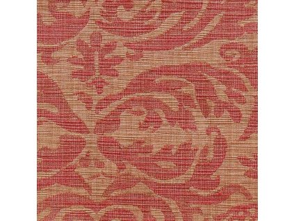 Dekorativní látka Ralph Lauren Austell Damask - Cinnabar