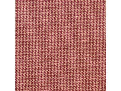 Dekorativní látka Ralph Lauren Chesterfield Houndstooth - Cranberry