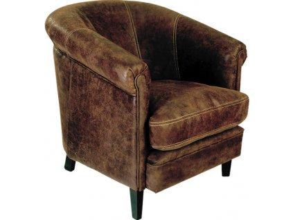 Kožené křeslo Vincent Club Chair ML-716