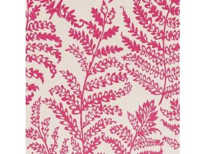 Anglická potahová textilie Wild fern Raspberry F0488/06