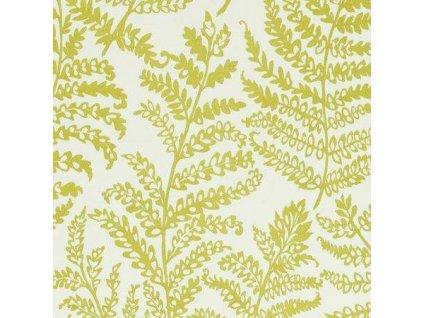 Anglická potahová textilie Wild fern Citrus F0488/02