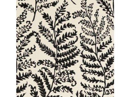 Anglická potahová textilie Wild fern Charcoal F0488/01