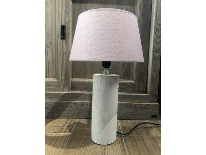 Stolní lampa - kameninová bílá malá 2