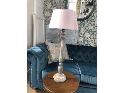 Stolní lampa šedá s patinou