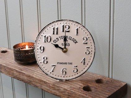 Plechové stolní Hodiny Old Town clock
