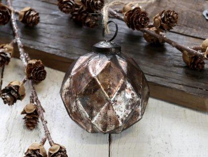 Vánoční ozdoba Chic antiq bronz velká
