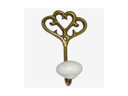 Bronzový věšáček ve tvaru klíče