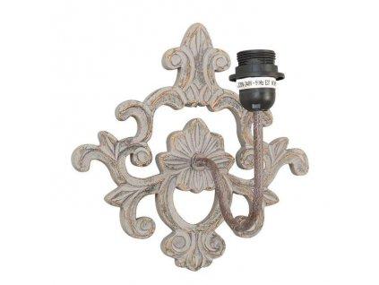 Nástěná lampa dřevěná - ornament