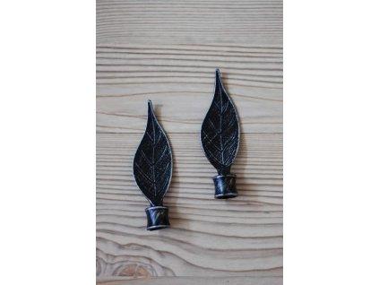 Kovová koncovka - list 1 černá