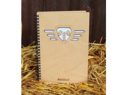 Dřevěný bloček A5 AniDef