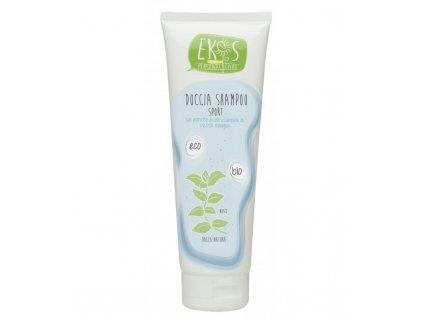 Osviežujúci bio sprchový gél a šampón2 v 1 s organickým extraktom z mäty, ideálny pre športovcov, 250 ml, EKOS