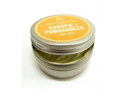Telové maslo s pomarančovým esenciálnym olejom a konopným olejom, ideálne na domáci wellness, 150 ml , Cztery Szpaki