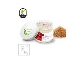 Vyhladzujúci cukrový telový peeling s bambuckým maslom a brusnicovým olejom, 200 ml, GoCranberry