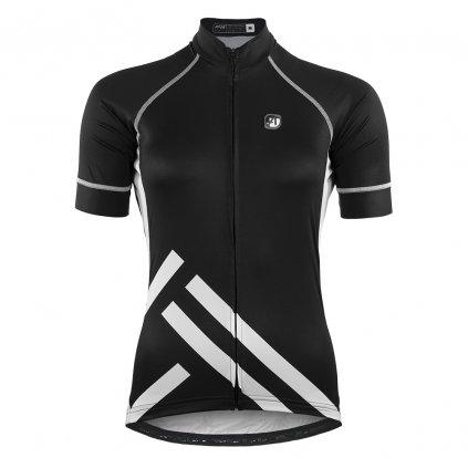aper damsky cyklisticky dres black and white 1