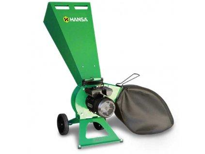 Hansa C3e - elektrický zahradní štěpkovač
