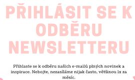 Přihlaste se k odběru newsletteru