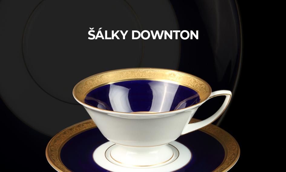 Čajový šálek s podšálkem Downton