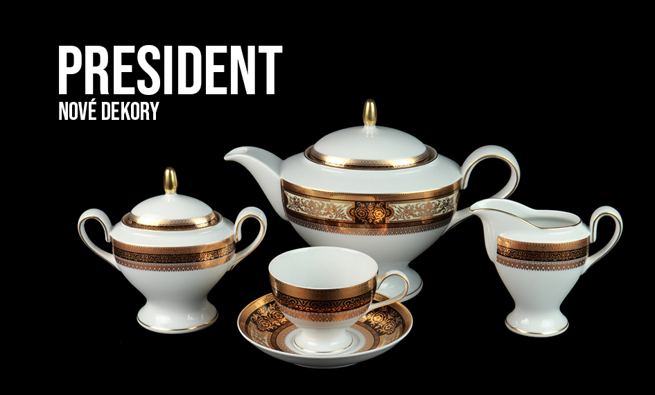 Porcelánový servis prezidentů