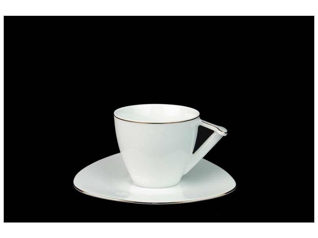 Kávový šálek s podšálkem - Delta UNI | Luxusní porcelán - Atelier JM Lesov