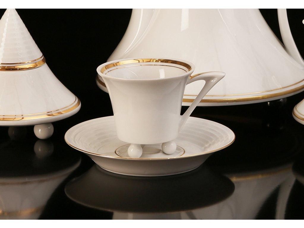 Kávový šálek s podšálkem - Obelisk 951 | Luxusní porcelán - Atelier JM Lesov