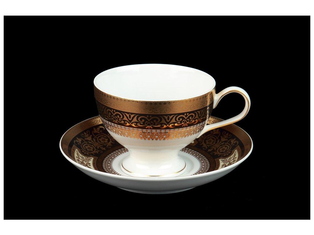 Čajový šálek s podšálkem - President 232 | Luxusní porcelán - Atelier JM Lesov
