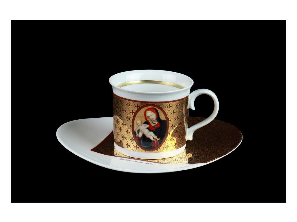 Šálek s podšálkem - Madony | Luxusní porcelán - Atelier JM Lesov