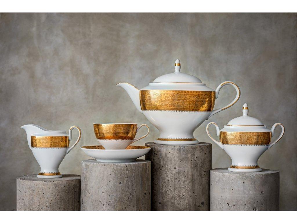 Porcelánový servis prezidentů - 201 Au | Luxusní porcelán - Atelier JM Lesov