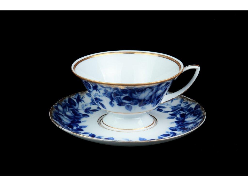 Čajový šálek s podšálkem - Downton Charlotta | Luxusní porcelán - Atelier JM Lesov