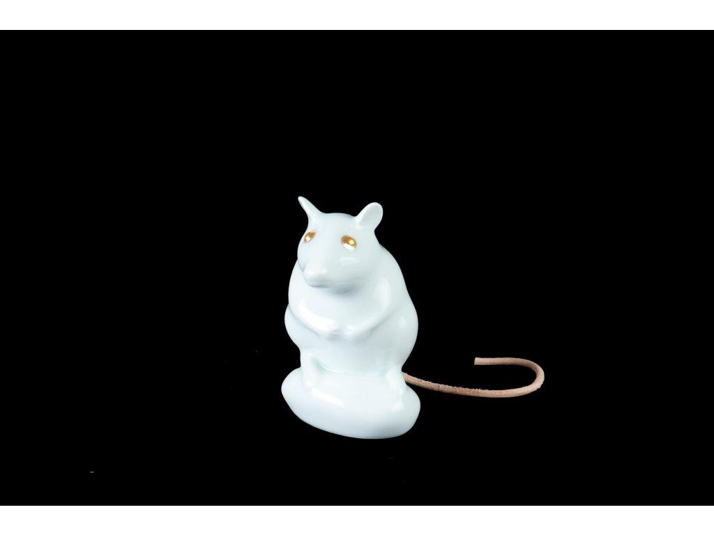 krysa, porcelánová figurka myšák Jůlius, porcelánová myš, atelier JM lesov, myšák