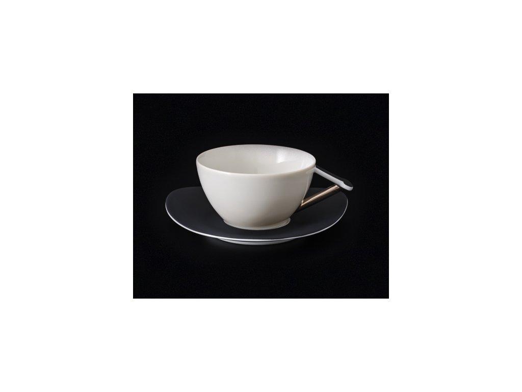 Čajový šálek s podšálkem - Delta 700 | Luxusní porcelán - Atelier JM Lesov