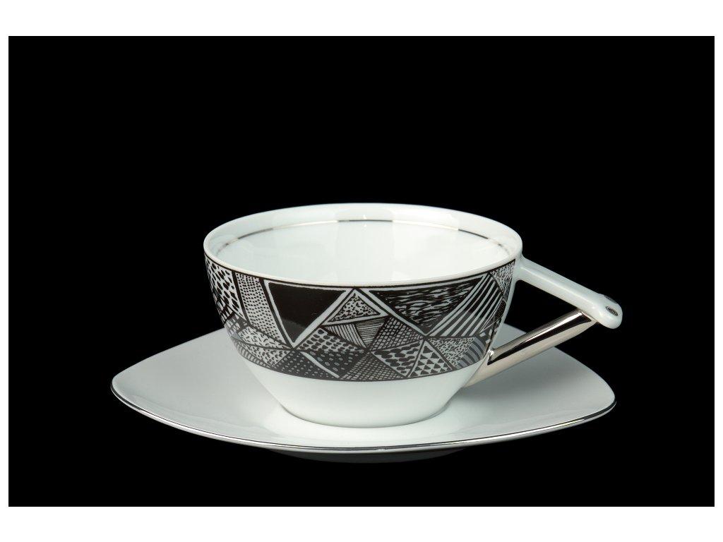 Čajový šálek s podšálkem - Delta 705 | Luxusní porcelán - Atelier JM Lesov