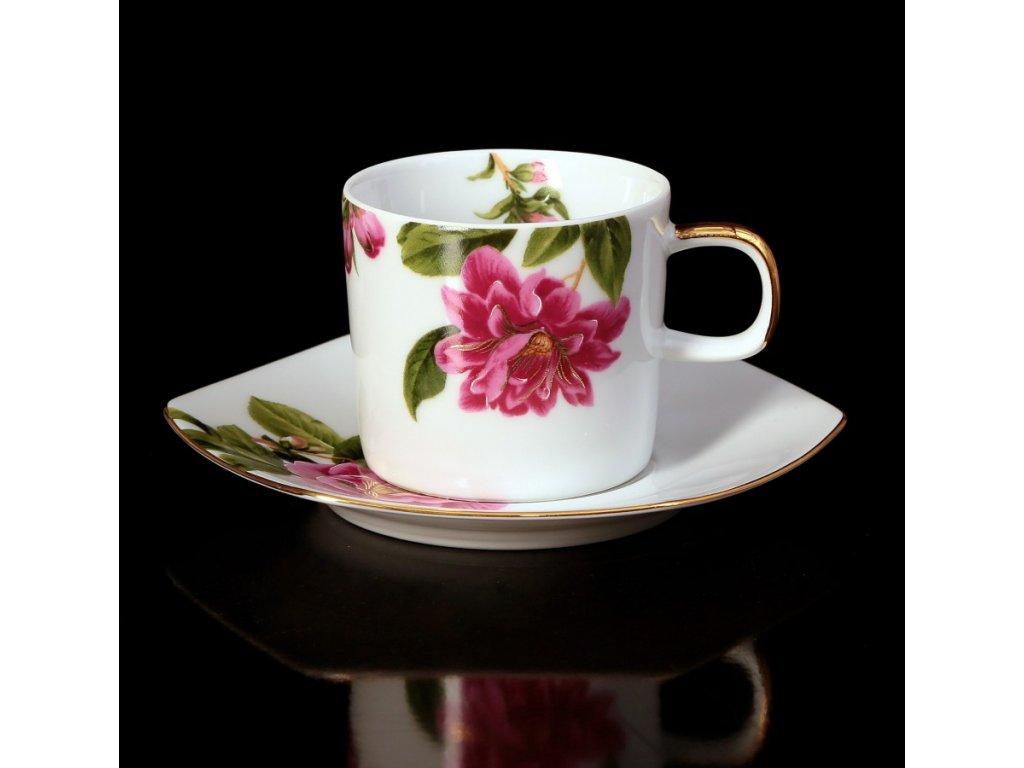 Kávový šálek s podšálkem - Sophia 432AU | Luxusní porcelán - Atelier JM Lesov