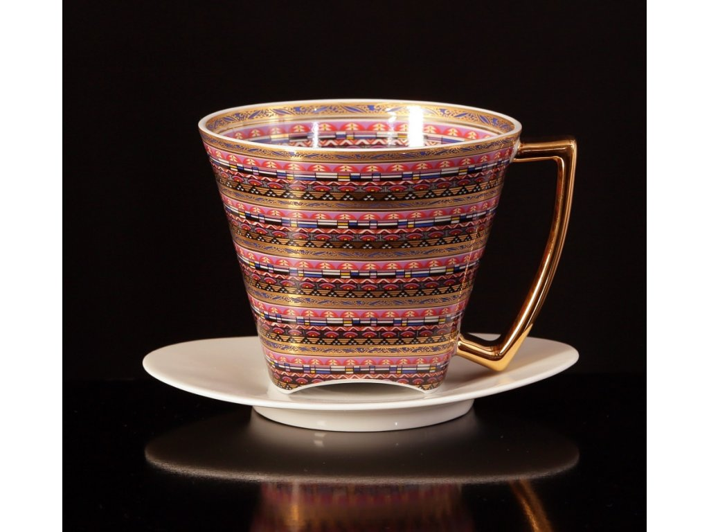 Čajový šálek s podšálkem - WO-MAN 151 | Luxusní porcelán - Atelier JM Lesov