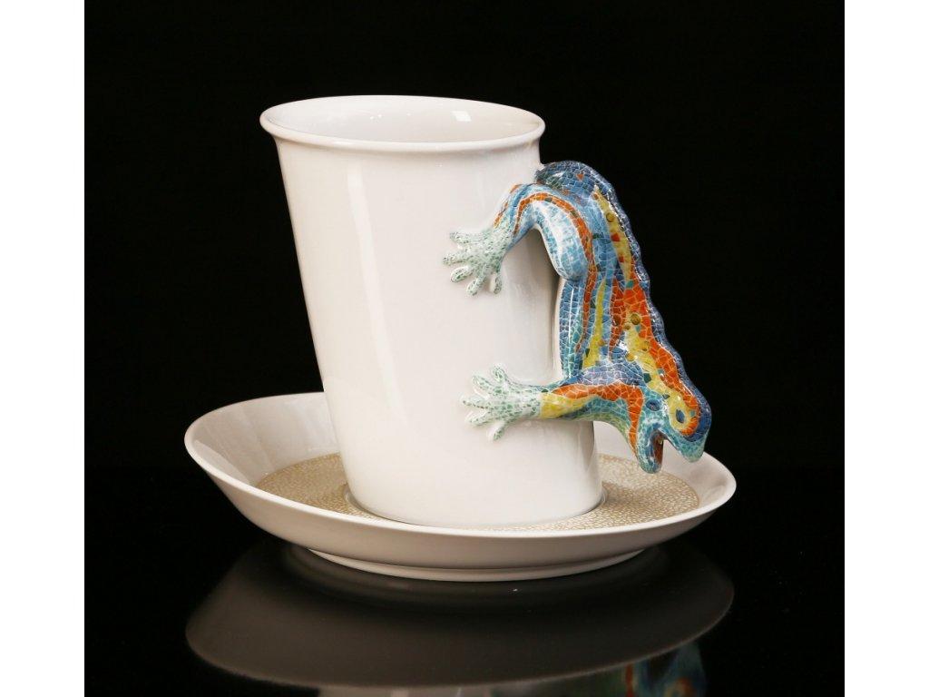 Čajový šálek s podšálkem - Gaudí | Luxusní porcelán - Atelier JM Lesov