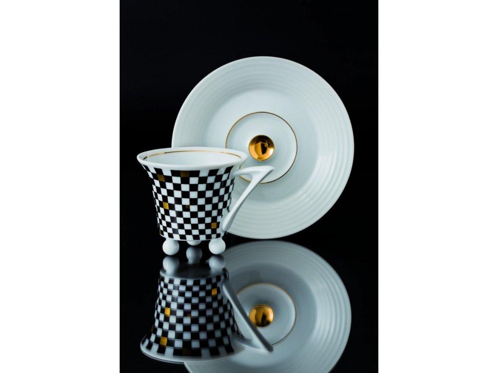Kávový šálek s podšálkem - Obelisk 953 | Luxusní porcelán - Atelier JM Lesov