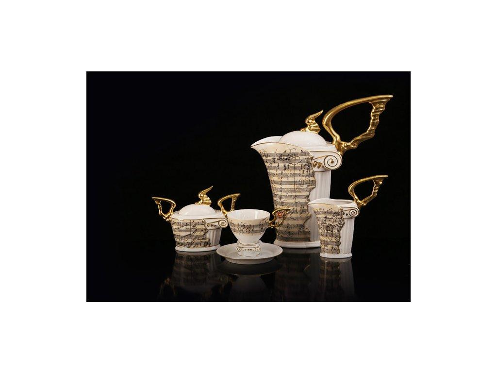 Porcelánová kávová souprava - Beethoven | Luxusní porcelán - Atelier JM Lesov