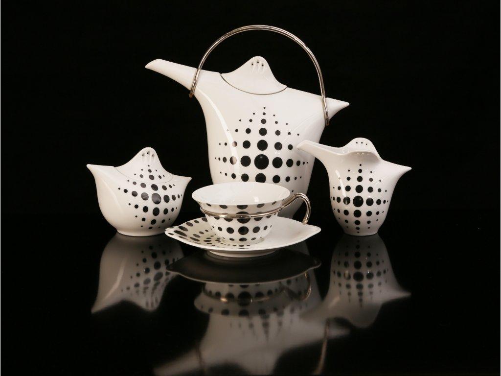 Porcelánová čajová souprava - Kapka 392 | Luxusní porcelán - Atelier JM Lesov
