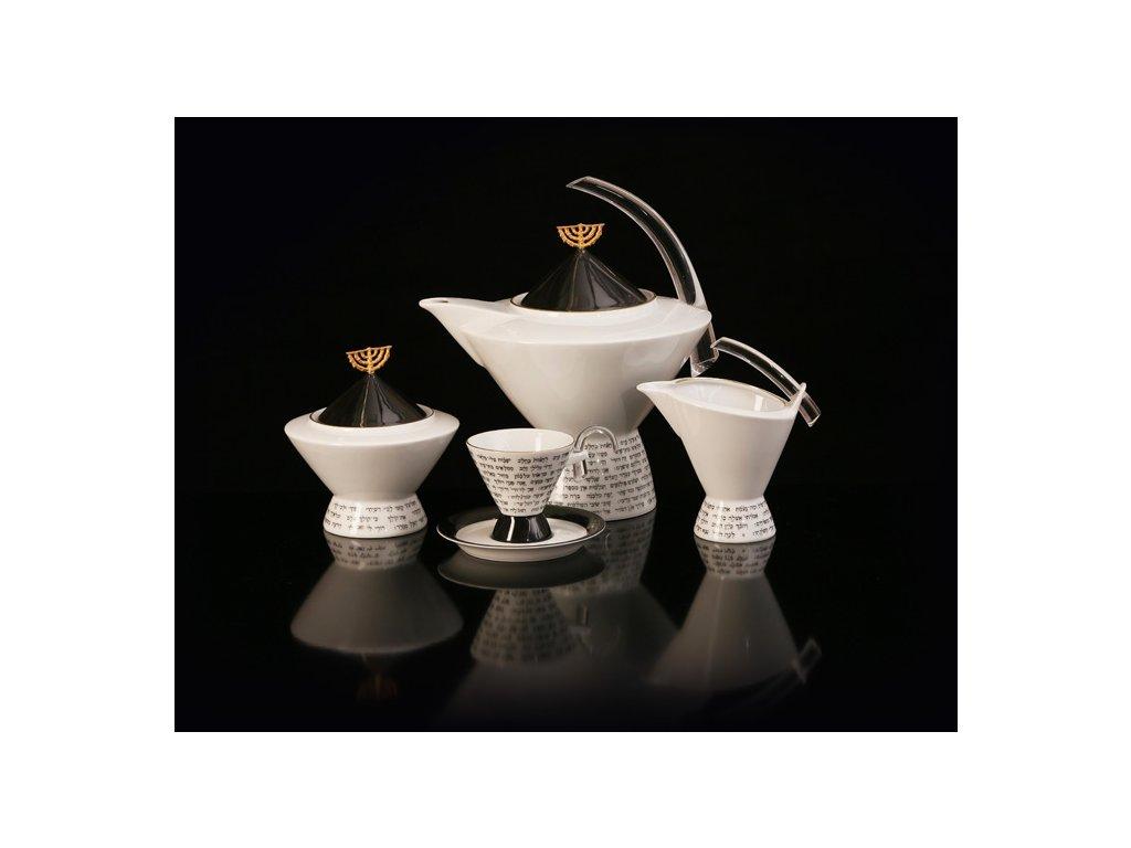 Porcelánová kávová souprava - Saron | Luxusní porcelán - Atelier JM Lesov