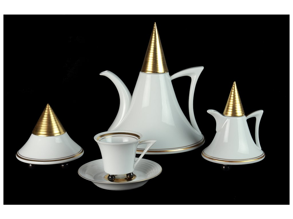 Porcelánová kávová souprava - Obelisk 951 | Luxusní porcelán - Atelier JM Lesov