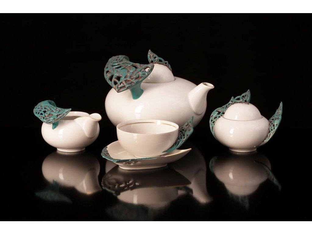 Porcelánová čajová souprava - Čechov 501 | Luxusní porcelán - Atelier JM Lesov