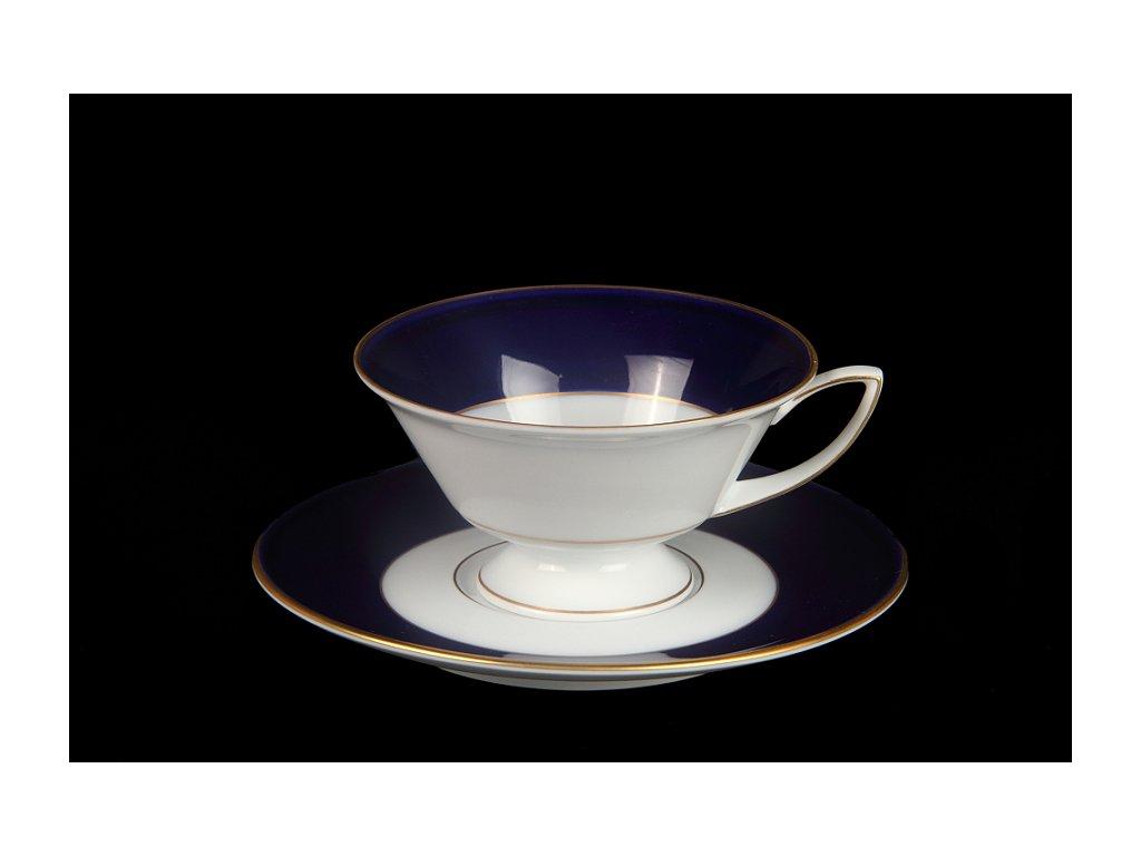 Čajový šálek s podšálkem - Downton Philip 371 | Luxusní porcelán - Atelier JM Lesov