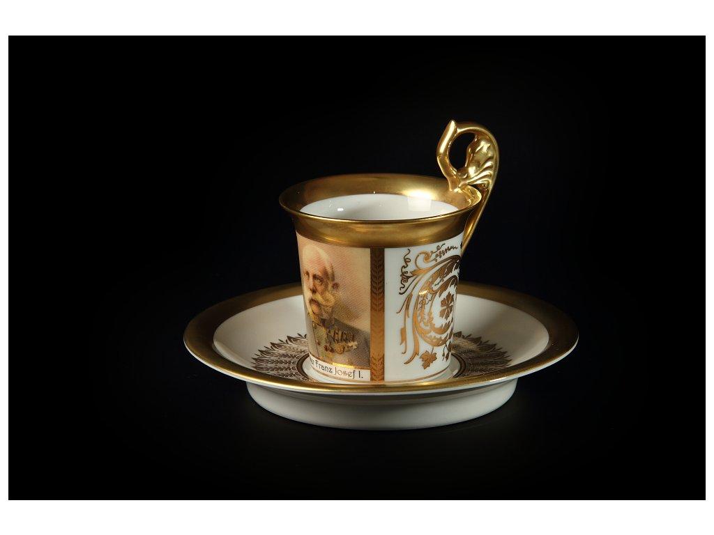 Kávový šálek s podšálkem - Vídeňské šálky 1233 | Luxusní porcelán - Atelier JM Lesov