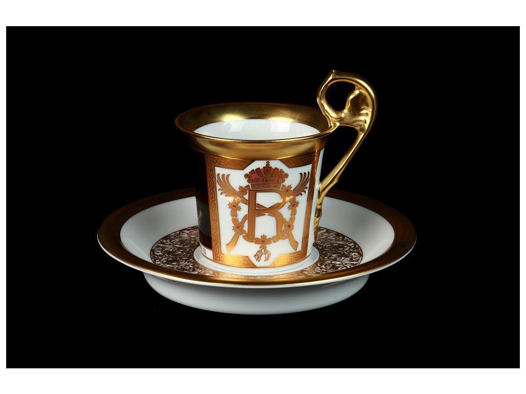 Kávový šálek s podšálkem - Vídeňské šálky 1235 | Luxusní porcelán - Atelier JM Lesov