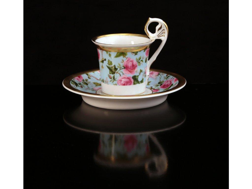 Kávový šálek s podšálkem - Vídeňské šálky 122 | Luxusní porcelán - Atelier JM Lesov