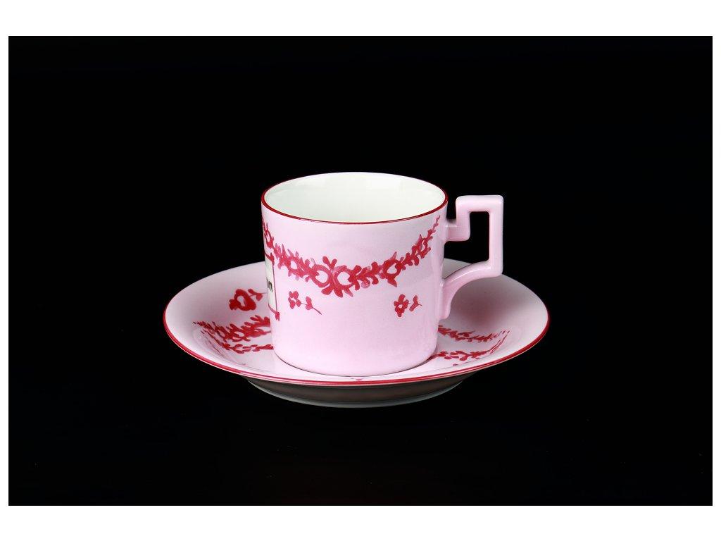 Kávový šálek s podšálkem - Vivat Böhmen | Luxusní porcelán - Atelier JM Lesov