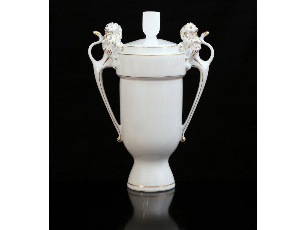 Pohár se lvy | Luxusní porcelán - Atelier JM Lesov