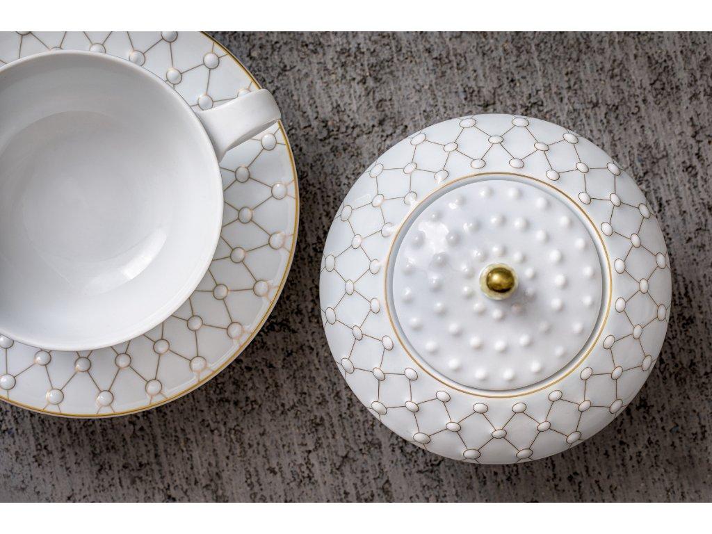 Čajový šálek s podšálkem - Galaxie 306 | Luxusní porcelán - Atelier JM Lesov