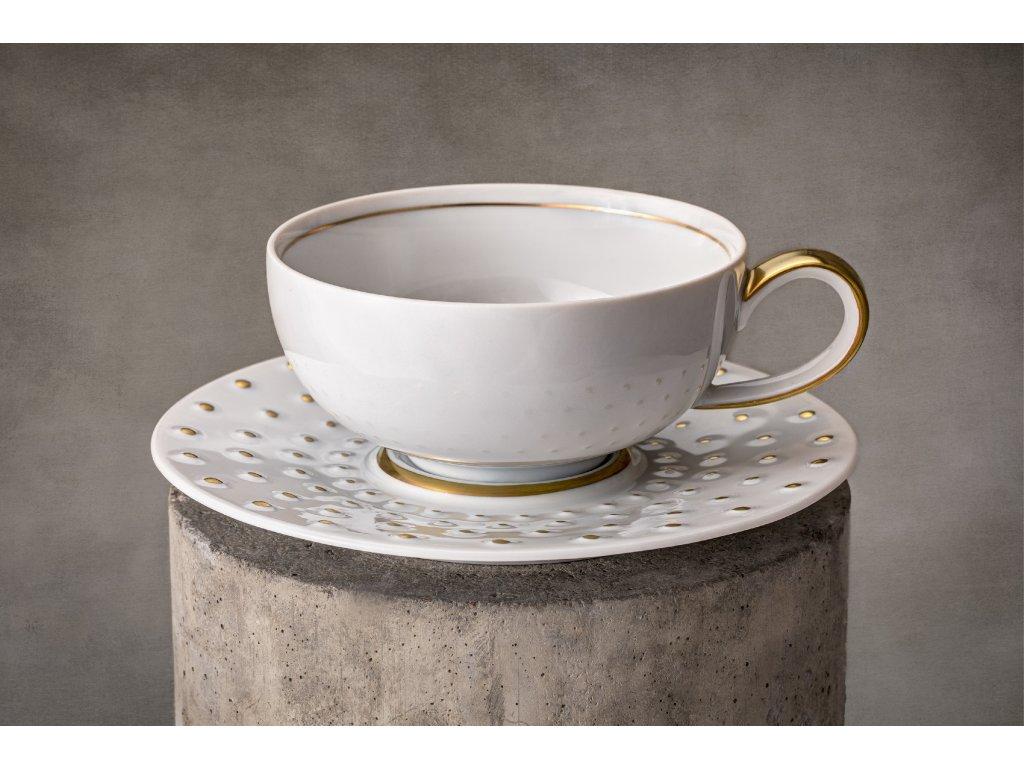 Čajový šálek s podšálkem - Galaxie 302 | Luxusní porcelán - Atelier JM Lesov