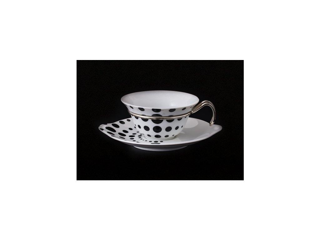 Čajový šálek s podšálkem - Kapka 392 | Luxusní porcelán - Atelier JM Lesov
