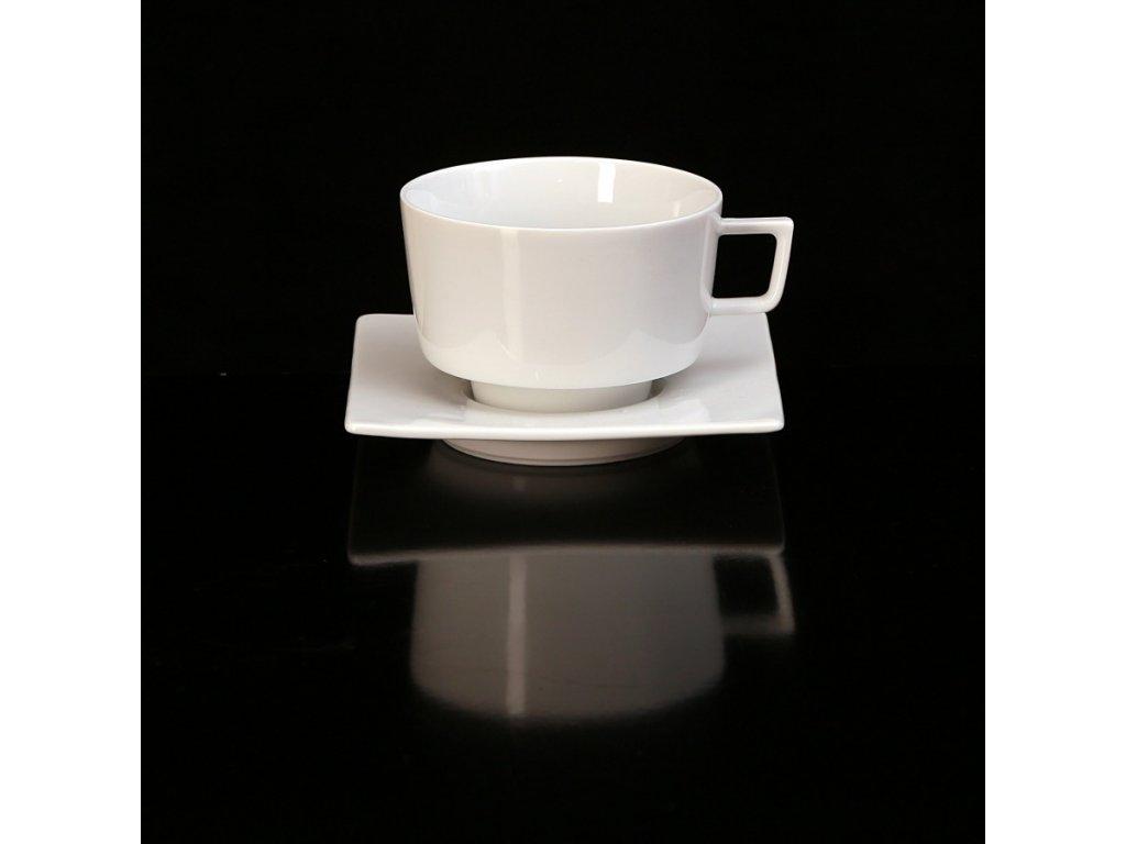 Čajový šálek s podšálkem - Polygon 153 | Luxusní porcelán - Atelier JM Lesov